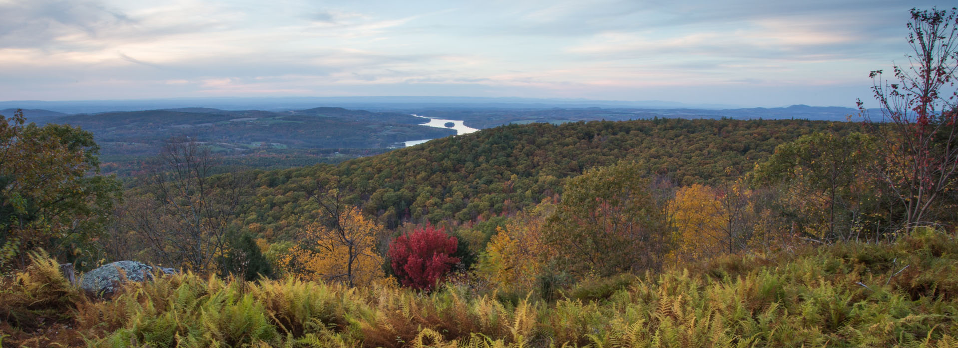 View of the Tomhannock Reservoir from the Rensselaer Plateau across the watershed sm