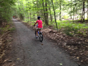 Parnter Trails Corkscrew Bikes on Trail